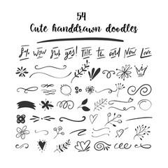 Handdrawn vector doodles.