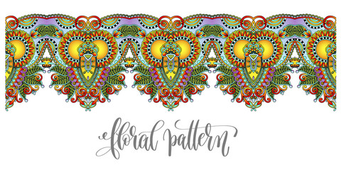 ornamental stripe pattern, paisley floral design to fabric