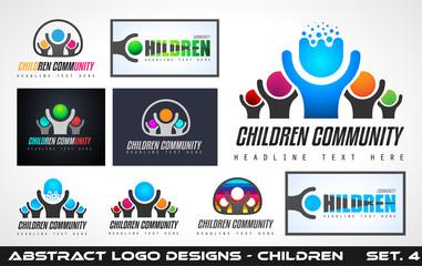 Collection fo Creative Children Community Logo designs for brand identity, company profile