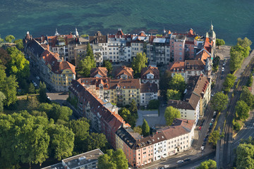 Germany, Lake Constance, Aerial view, Konstanz