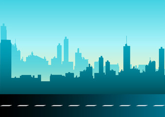 Vector illustration of a cityscape
