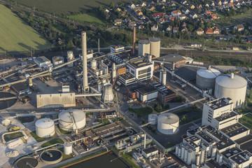 Germany, Lower Saxony, Hildesheim, Nordzucker AG Nordstemmen, aerial view