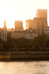 View of downtown Buenos Aires from Puerto Madero, Argentina