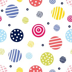 Seamless pattern, polka dot fabric, wallpaper, vector.