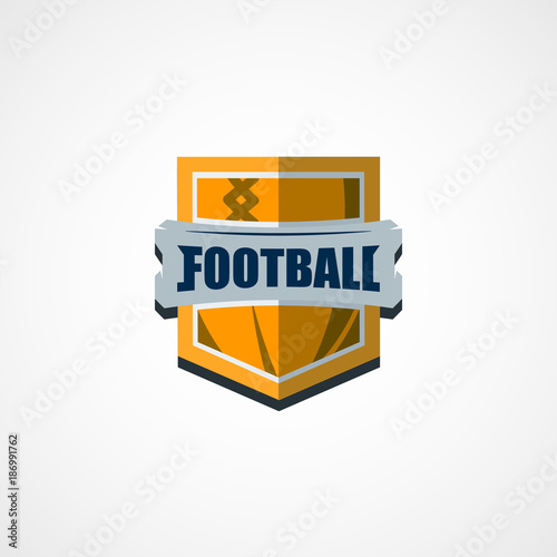 american football logo template vector college logos illustration