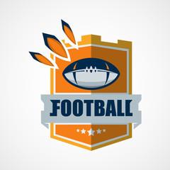 American Football Logo Template. Vector College Logos Illustration