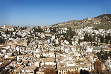 Spain, Andalucia, Granada, view of Albayzin neighborhood
