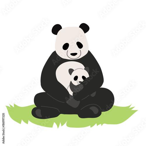 パンダの親子 イラスト Fotoliacom の ストック画像とロイヤリティ