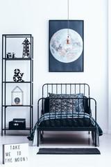 Moon in child's modern bedroom