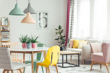 Pastel apartment interior