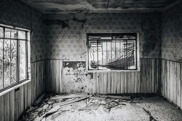 Abandoned house room