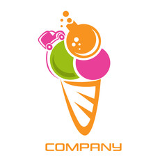 ice cream and chemistry logo