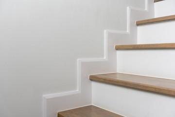 Foto op Plexiglas Trappen wooden staircase interior decoration