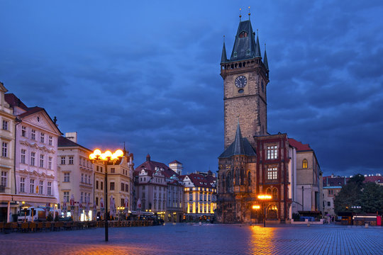 25 Old Town hall in the morning, Prague, Czech Republic