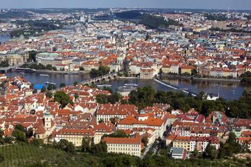 Prague - view form the Petrin hill tower, Czech Republic