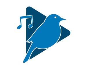 musical sparrow parakeets bird silhouette image vector 1