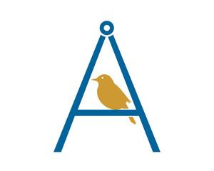 sparrow parakeets bird silhouette image vector typography image vector