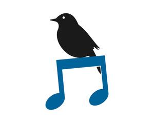 musical sparrow parakeets bird silhouette image vector