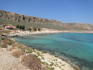 Balos Lagoon on the Greek island of Crete