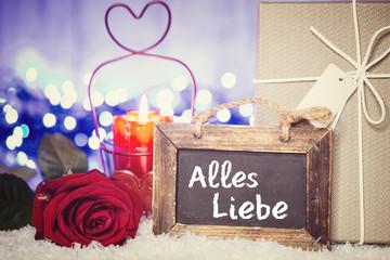 Vielen Dank Karte Valentinstag