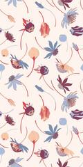 Bright Vector Botanical Seamless Wallpaper