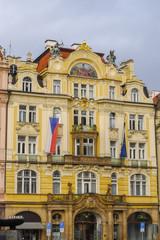 Czech Republic Prague art nouveau building in Old Town Square