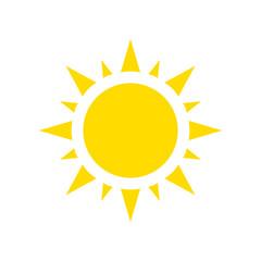 Icon sun, vector.