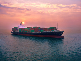 The container vessel  on arrival in thailand port.