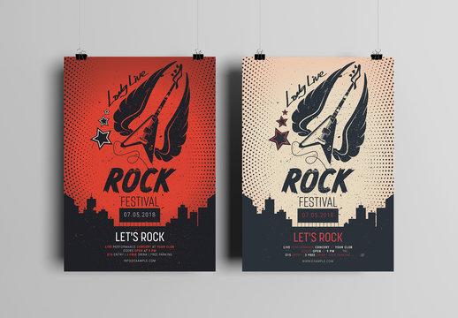 Rock Festival Flyer Layout 2