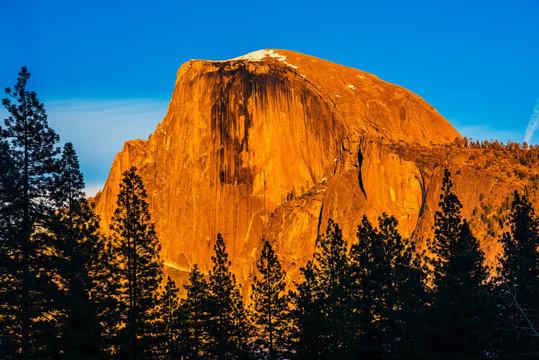 The Half Dome In Sunset Light, Yosemite National Park, California