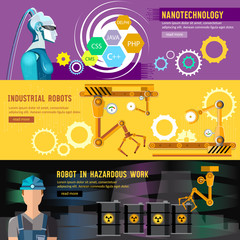 Creation and programming robots, nanotechnology. Artificial intelligence, microchips, people and computers
