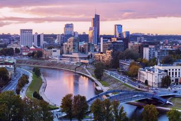 Lithuania, Vilnius, Cityscape in morning light