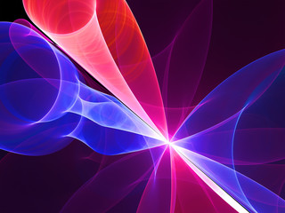 Abstract Bright Curved Organza Background - Fractal Art