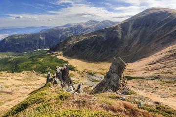 Ukraine, Ivano-Frankivsk region, Verkhovyna district, Carpathians, Chornohora, Landscape with mountain Shpytsi