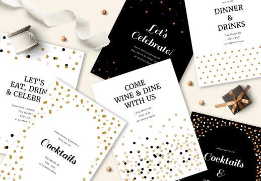 Confetti Invitation Set