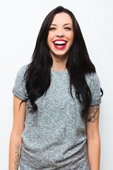 Portrait of a beautiful caucasian woman smiling.