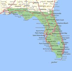 Florida-US-States-VectorMap-A