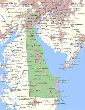 Delaware-US-States-VectorMap-A