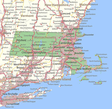 Massachusetts-US-States-VectorMap-A