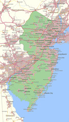 New Jersey-US-States-VectorMap-A