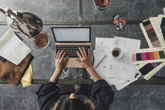 Woman Designer Working on Her Laptop