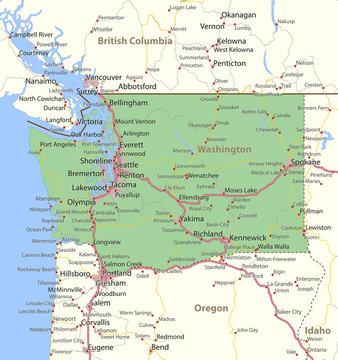 Washington-US-States-VectorMap-A