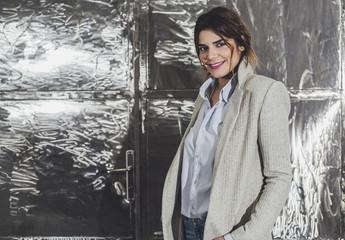 Portrait of A Pretty Woman Wearing Winter Coat
