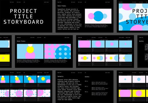 Abstract Storyboard Layout
