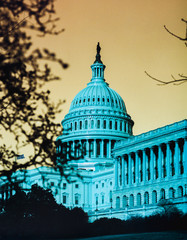 Stylized illustration of the US Capitol building