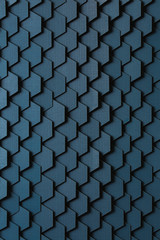 Navy blue hexagon tiled background