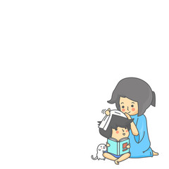 Mother Take Care Son Character Vector Illustration