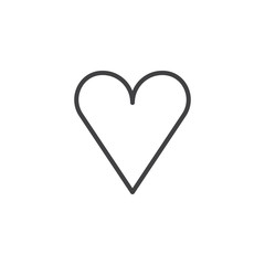 Heart line icon, outline vector sign, linear style pictogram isolated on white. Favorite love symbol, logo illustration. Editable stroke