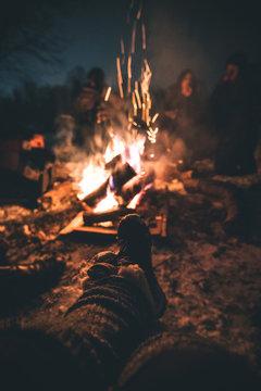 Winter Bonfire