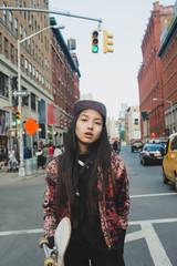Skateboarder in the city
